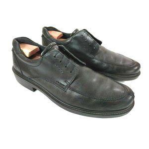 Ecco black leather oxford lace up  EU 46 US 12